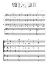 Téléchargez l'arrangement de la partition de Traditionnel-Une-jeune-fillette en PDF à trois voix