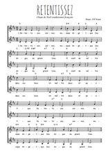 Téléchargez l'arrangement de la partition de Traditionnel-Retentissez en PDF à deux voix
