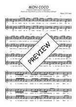 Téléchargez l'arrangement de la partition de Traditionnel-Mon-Coco en PDF à deux voix