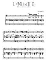 Téléchargez la partition de Rin del angelito en PDF pour Chant et piano
