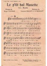 La partition gratuite de Le p'tit bal musette