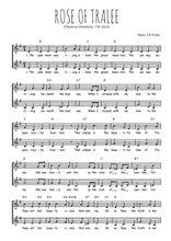Téléchargez l'arrangement de la partition de Traditionnel-Rose-of-Tralee en PDF à deux voix