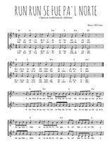 Téléchargez l'arrangement de la partition de Traditionnel-Run-run-se-fue-pa-l-norte en PDF à deux voix