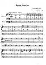 Danse macabre pour orgue Partition gratuite