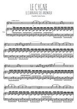 Téléchargez la partition de Le cygne en PDF pour Mélodie et piano