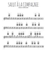 Téléchargez la partition pour saxophone en Mib de la musique salut-a-la-compagnie en PDF