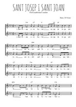 Téléchargez l'arrangement de la partition de Traditionnel-Sant-Josep-i-Sant-Joan en PDF à deux voix