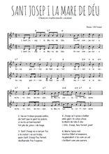 Téléchargez l'arrangement de la partition de Traditionnel-Sant-Josep-i-la-Mare-de-Deu en PDF à deux voix
