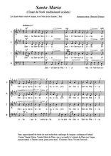 Téléchargez l'arrangement de la partition de noel-italien-santa-maria en PDF à quatre voix