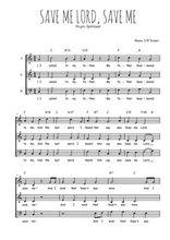 Téléchargez l'arrangement de la partition de Traditionnel-Save-me-Lord-save-me en PDF à trois voix