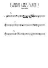 Téléchargez la partition de la musique schubert-canon-sans-parole en PDF, pour violon