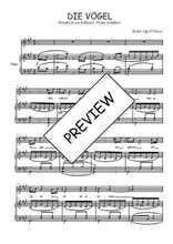 Téléchargez la partition de Die Vögel en PDF pour Chant et piano