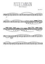 Téléchargez la partition de robert-schumann-petite-chanson-op68 en clef de fa