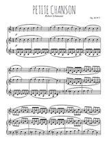 Téléchargez la partition de Petite chanson en PDF pour Mélodie et piano