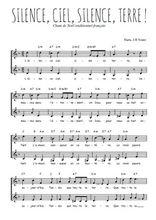 Téléchargez l'arrangement de la partition de Traditionnel-Silence-ciel-silence-terre en PDF à deux voix