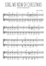 Téléchargez l'arrangement de la partition de Traditionnel-Sing-we-now-of-Christmas en PDF à deux voix