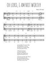 Téléchargez l'arrangement de la partition de Traditionnel-Oh-Lord-!-I-am-not-worthy en PDF à deux voix