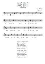 Téléchargez l'arrangement de la partition de Ludwig-Spohr-Das-Lied en PDF à deux voix