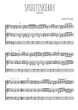 Téléchargez l'arrangement de la partition de irish-spootiskerry en PDF à trois voix