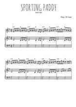Téléchargez la partition de Sporting Paddy en PDF pour Mélodie et piano