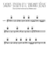 Téléchargez la partition en Sib de la musique noel-joseph-et-l-enfant-jesus en PDF