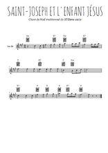 Téléchargez la partition pour saxophone en Mib de la musique noel-joseph-et-l-enfant-jesus en PDF