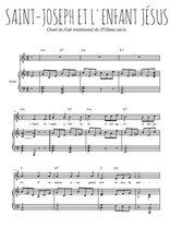 Téléchargez la partition de Saint Joseph et l'enfant Jésus en PDF pour Chant et piano
