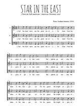 Téléchargez l'arrangement de la partition de traditionnel-star-in-the-east en PDF à trois voix