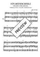 Téléchargez la partition de Von meinem Bergli en PDF pour Chant et piano