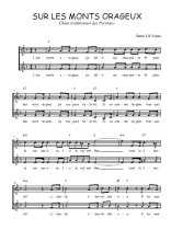 Téléchargez l'arrangement de la partition de Traditionnel-Sur-les-monts-orageux en PDF à deux voix