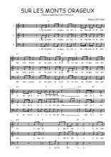 Téléchargez l'arrangement de la partition de Traditionnel-Sur-les-monts-orageux en PDF à trois voix