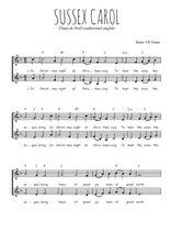 Téléchargez l'arrangement de la partition de Traditionnel-Sussex-Carol en PDF à deux voix