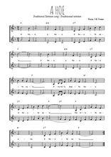 Téléchargez l'arrangement de la partition de Traditionnel-A-hoe en PDF à deux voix