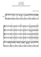 Téléchargez la partition de A hoe en PDF pour 4 voix SATB et piano