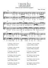 Téléchargez l'arrangement de la partition de Traditionnel-Tararan en PDF à deux voix