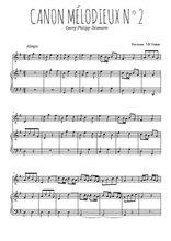 Téléchargez la partition de Canon mélodieux N°2 en PDF pour Mélodie et piano