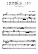 Téléchargez la partition de Canon mélodieux N°4 en PDF pour Mélodie et piano