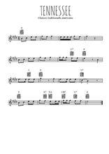 Téléchargez la partition pour saxophone en Mib de la musique usa-tennessee en PDF