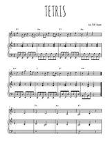 Téléchargez la partition de Tetris en PDF pour Chant et piano