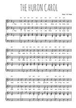 Téléchargez la partition de The Huron carol en PDF pour 2 voix égales et piano