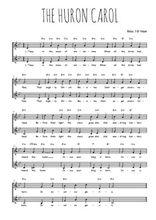 Téléchargez l'arrangement de la partition de the-huron-carol-jesous-ahatonhia en PDF à deux voix