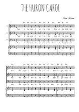 Téléchargez la partition de The Huron carol en PDF pour 3 voix SAB et piano