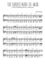Téléchargez l'arrangement de la partition de usa-the-yankee-man-of-war en PDF à deux voix