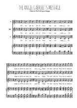 Téléchargez la partition de Gabriel's message en PDF pour 3 voix SSA et piano
