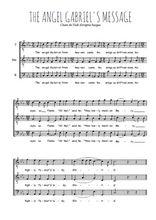 Téléchargez l'arrangement de la partition de Traditionnel-Gabriel-s-message en PDF pour trois voix d'hommes