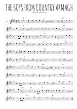 Téléchargez la partition pour saxophone en Mib de la musique irlande-the-boys-from-county-armagh en PDF