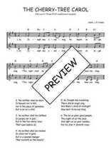 Téléchargez l'arrangement de la partition de Traditionnel-The-cherry-tree-carol en PDF à deux voix