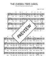 Téléchargez l'arrangement de la partition de Traditionnel-The-cherry-tree-carol en PDF à quatre voix