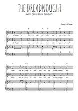 Téléchargez la partition de The dreadnought en PDF pour 2 voix égales et piano