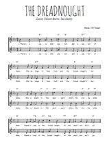 Téléchargez l'arrangement de la partition de chant-de-marin-the-dreadnought en PDF à deux voix